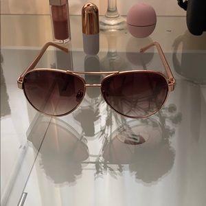Tommy Hilfiger Rose Gold Aviator Sunglasses